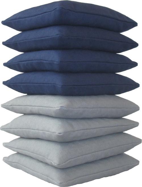 Navy Blue and Gray Cornhole Bags