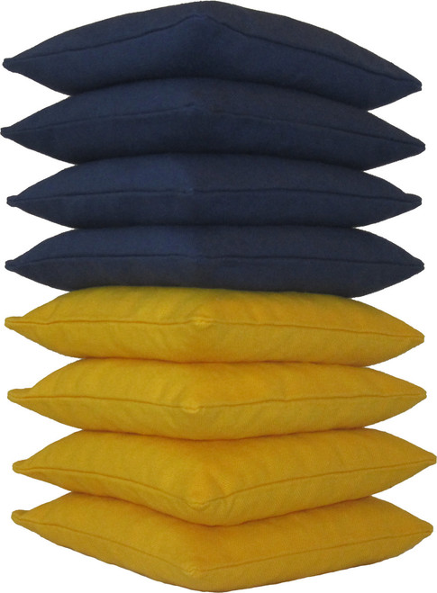 Navy Blue and Yellow Cornhole Bags