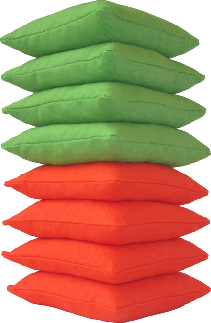 Neon Green and Orange Cornhole Bags