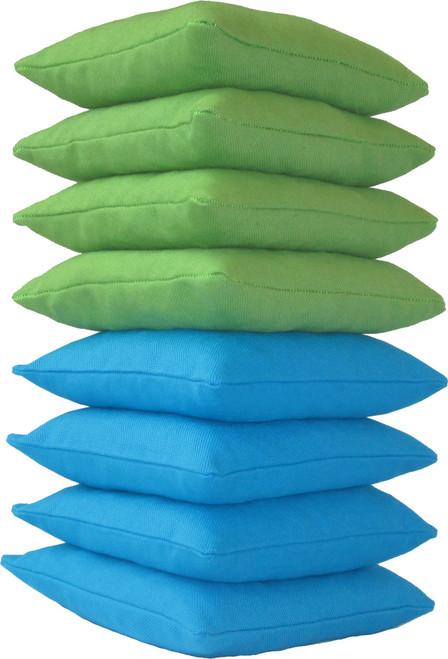 Neon Green and Bright Blue Cornhole Bags