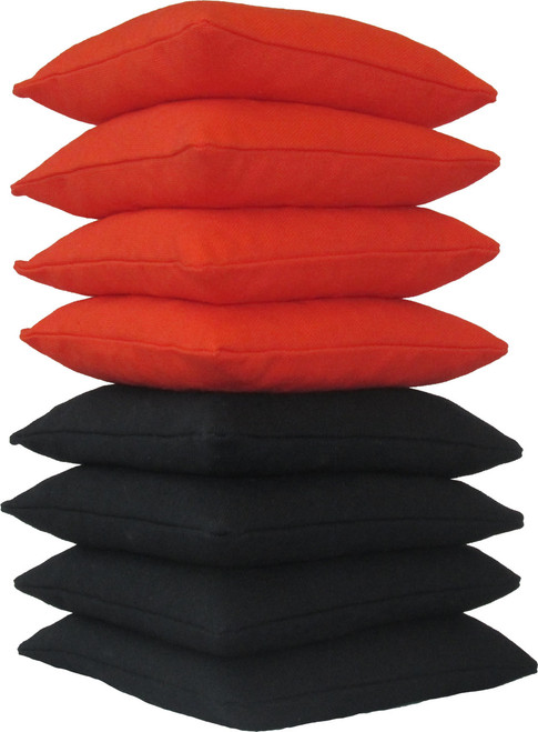 Orange and Black Cornhole Bags