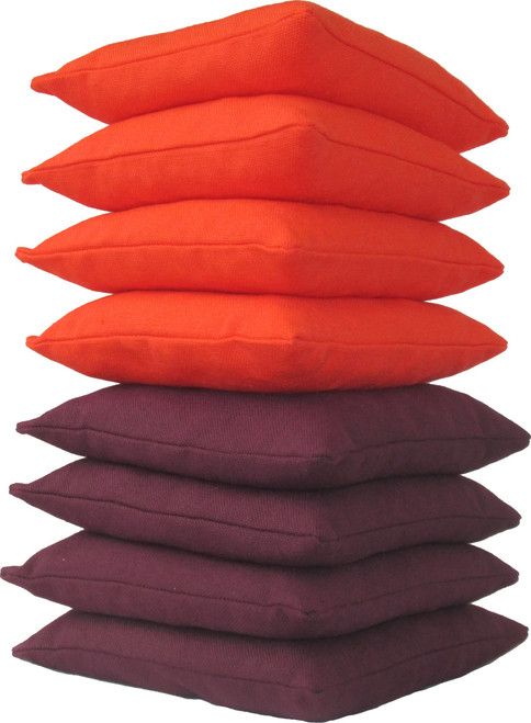Orange and Maroon Cornhole Bags