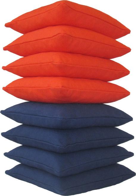 Orange and Navy Blue Cornhole Bags