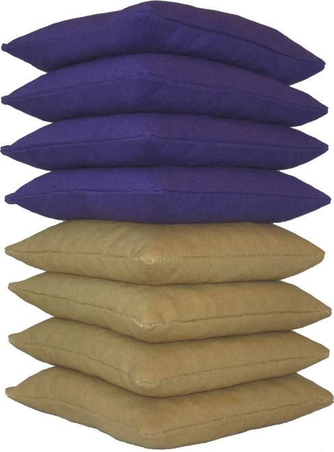 Purple and Gold Cornhole Bags