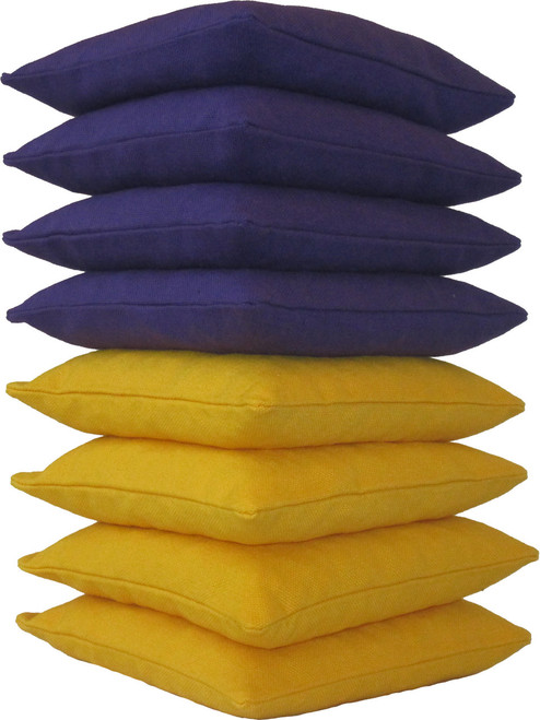 Purple and Yellow Cornhole Bags