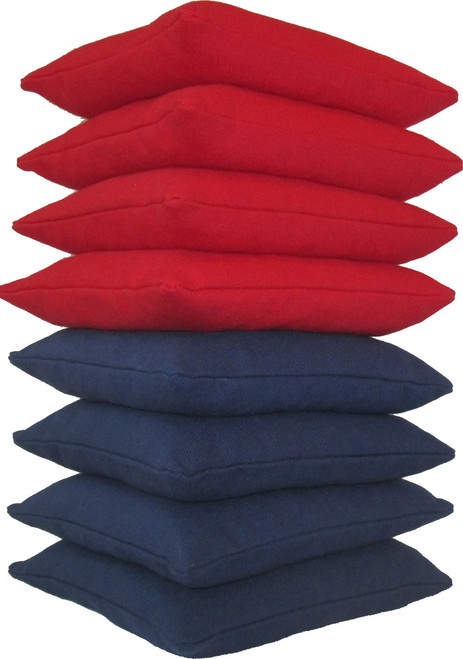 Red and Navy Blue Cornhole Bags