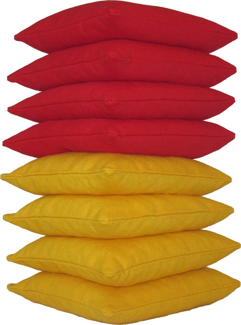 Red and Yellow Cornhole Bags