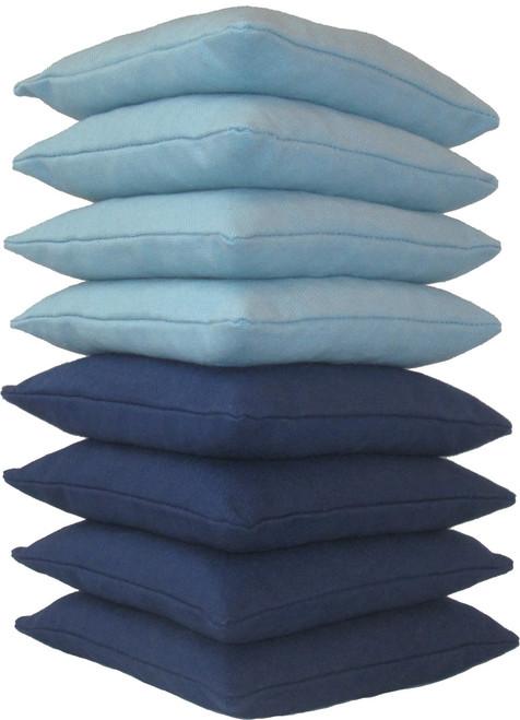 Sky Blue and Navy Blue Cornhole Bags