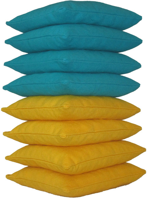 Teal and Yellow Cornhole Bags