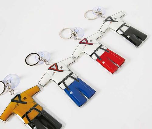 Mooto Taebek Poomsae Dan Uniform Keychain Navy/White