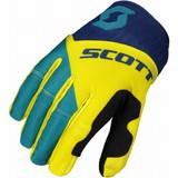Scott 450 Angled Gloves (Blue/Yellow)