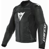 Dainese Sport Pro Leather Jacket (Black/White)