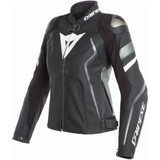 Dainese Womens Avro 4 Leather Jacket (Matte Black/Anthracite/White)