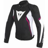 Dainese Womens Avro D2 Tex Jacket (Black/White/Fuchsia)