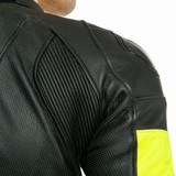Dainese VR46 Tavullia One-Piece Perforated Suit (Black/Fluo Yellow)