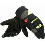 Dainese VR46 Curb Short Gloves (Black/Anthracite/Fluo Yellow)