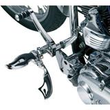 Kuryakyn Flamin Switchblade Motorcycle Pegs w/ Male Adapters
