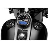Kuryakyn Gloss Black Alley Cat LED Fuel and Battery Gauge for Harley Davidson