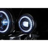 "Kuryakyn Motorcycle 4 1/2"" Orbit Vision LED Passing Lamps w/ White Halo"