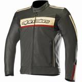 Alpinestars Dyno V2 Leather Jacket (Black/Stone/Red)