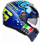 AGV K3 SV Rossi Misano 2015 Helmet (Blue)