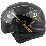 Scorpion Covert Rockstar Helmet (Black/Gold)