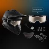 CKX Titan Air Flow Electric Combo Solid Snow Helmet (Matte Black)