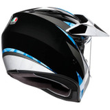 AGV AX9 North Helmet (Black/White/Cyan)