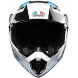 AGV AX9 North Helmet (Black/White/Cyan)