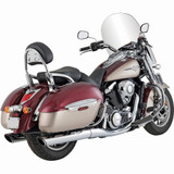 """Vance and Hines Twin Slash Round 4"""" Slip-On Motorcycle Exhaust"""