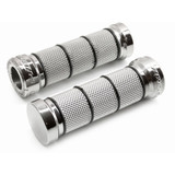 Pro Grip 866 Chromed Rubber Motorcycle Grips