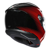 AGV K6 Rush Helmet (Black/Red)