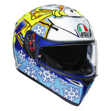 AGV K3 SV Rossi Winter Test 2016 Helmet (White/Blue/Yellow)