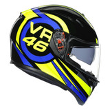 AGV K3 SV Ride 46 Helmet (Black/Blue/Yellow)