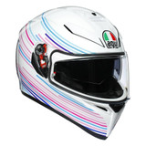 AGV K3 SV Sakura Helmet (White/Purple)