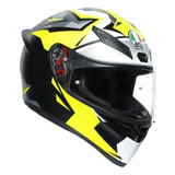 AGV K1 Mir 2018 Helmet (White/Black/Yellow)