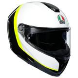 AGV Sportmodular Ray Helmet (Carbon/White/Fluo Yellow)