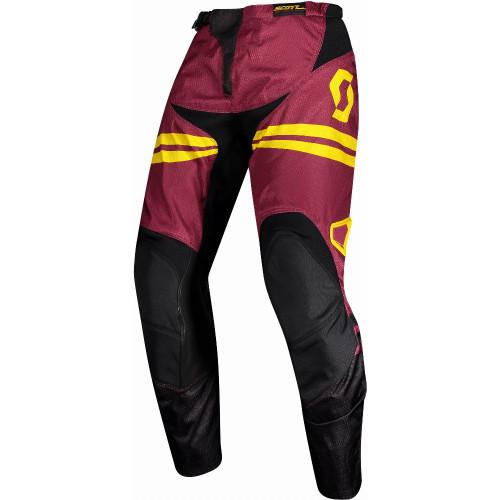 Scott 350 Race Pants (Maroon/Yellow)
