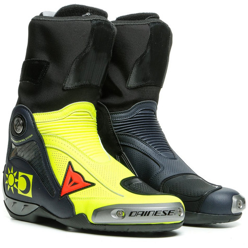 Dainese Axial D1 Replica Valentino Boots (Neon Yellow/Blue)