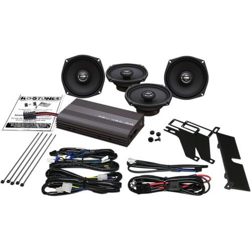 Hogtunes Big Ultra 200 Watt AMP Front and Rear Speaker Kit for Harley Davidson
