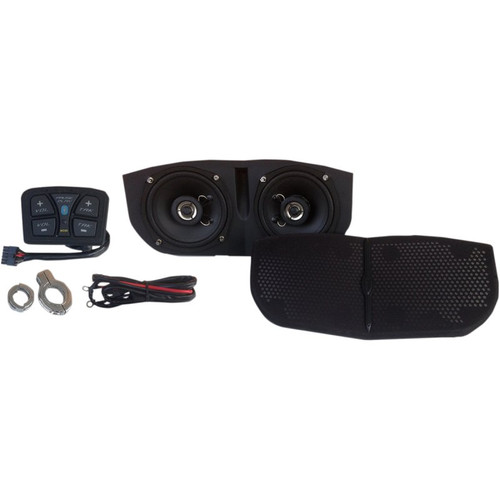 Hogtunes Bluetooth-Enabled Speaker System Kit for Memphis Shades Batwing Fairings