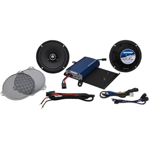 """Hogtunes 225-Watt Amp/6.5"""" Front Speaker Kit for Harley Davidson"""