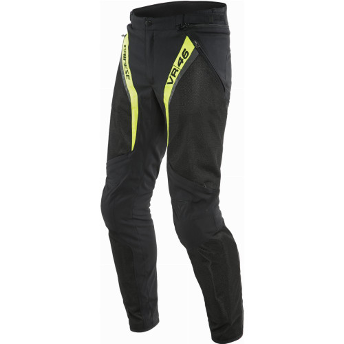 Dainese VR46 Grid Air Tex Pants (Black/Fluo Yellow)