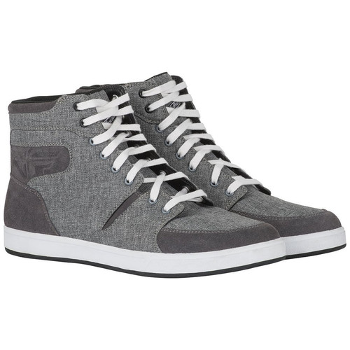 Fly Racing M16 Textile Shoes (Grey/Black)