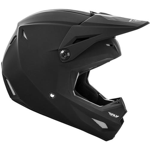 Fly Racing Youth Kinetic Solid Helmet (Matte Black)
