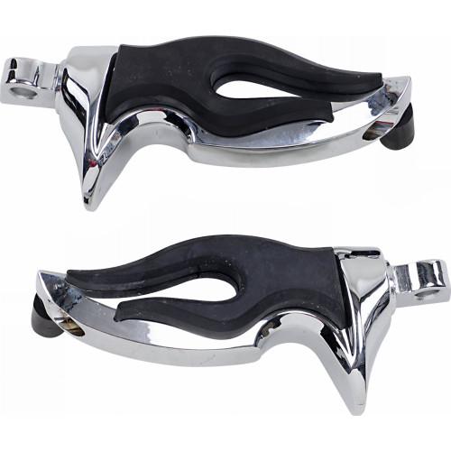 Kuryakyn Flamin Motorcycle Footpegs w/ Male Adapters