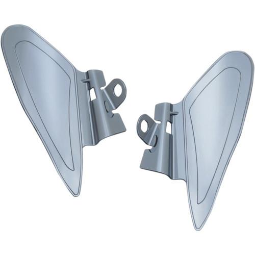 Kuryakyn Motorcycle AirMaster Reflective Smoke Saddle Shield