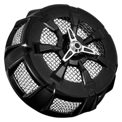Kuryakyn Gloss Black Alley Cat Air Cleaner Cover for Harley Davidson