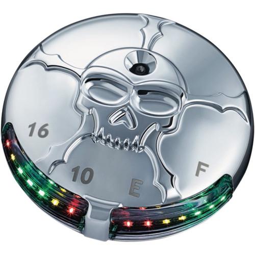 Kuryakyn Zombie LED Fuel and Battery Gauge for Harley Davidson