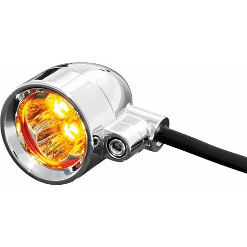 Kuryakyn Super Bright LED Silver Bullet Motorcycle Lights